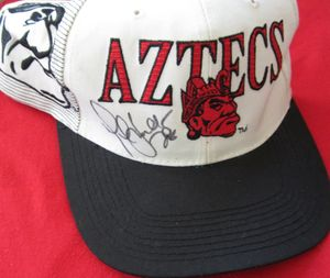 Marshall Faulk autographed San Diego State Aztecs cap or hat