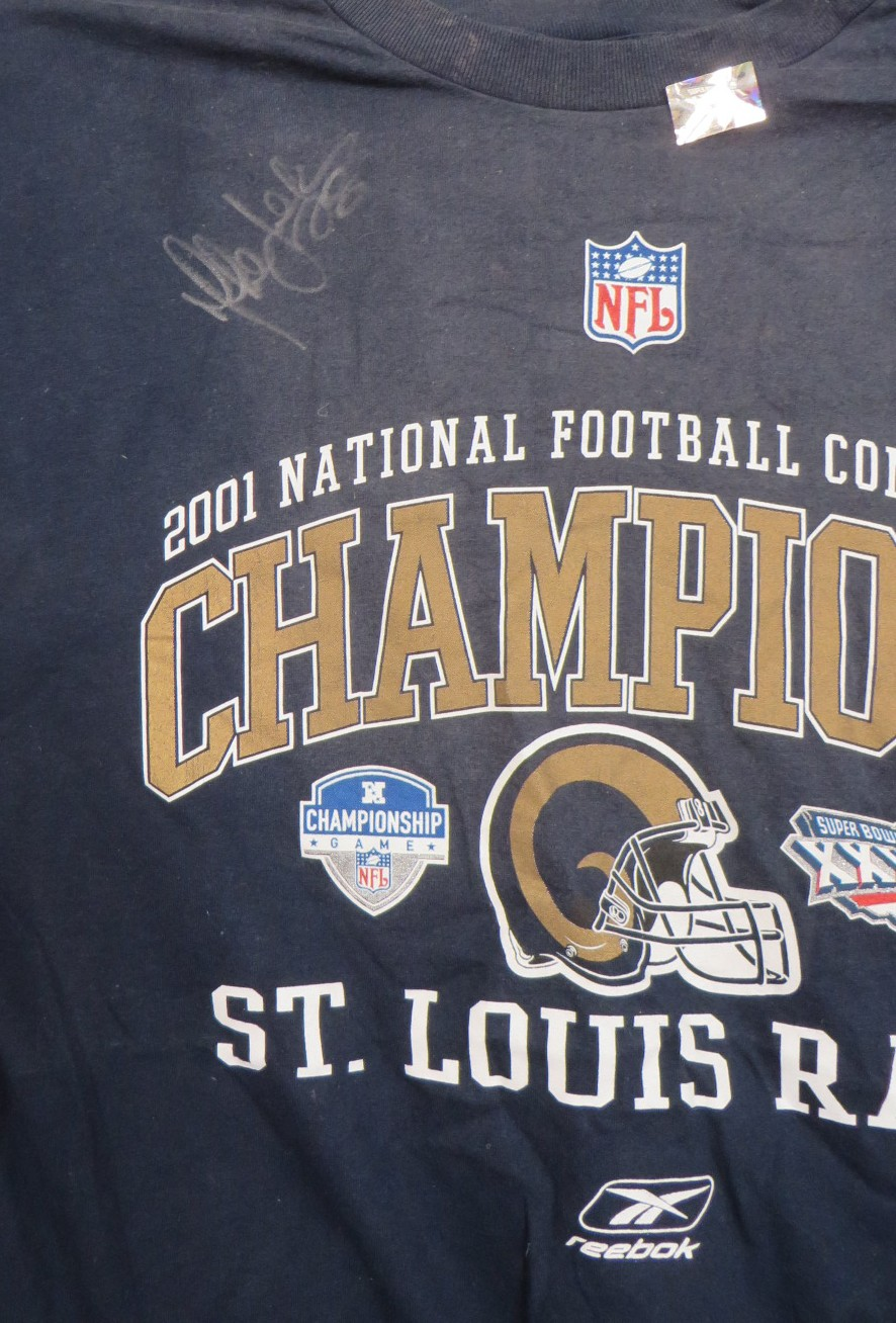 first rate caf8a 10087 Marshall Faulk autographed St. Louis Rams 2001 NFC Champions ...