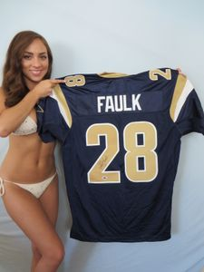 Marshall Faulk autographed St. Louis Rams authentic Reebok game model jersey