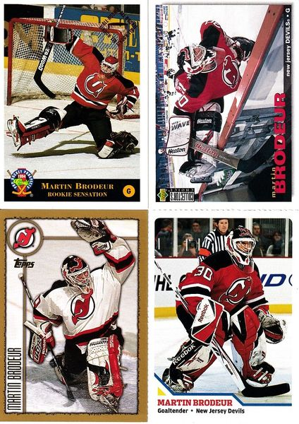 Martin Brodeur New Jersey Devils 4 card lot 1994 Classic Pro Hockey Prospects 2010 Sports Illustrated for Kids card