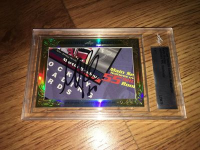 Martin Brodeur 2015 Leaf Masterpiece Cut Signature certified autograph card 1/1 PSA