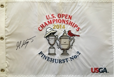 Martin Kaymer autographed 2014 U.S. Open embroidered golf pin flag