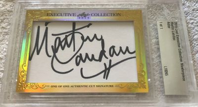 Martin Landau 2015 Leaf Masterpiece Cut Signature certified autograph card 1/1 JSA