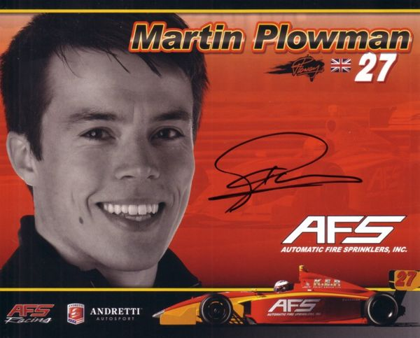 Martin Plowman autographed Andretti photo card