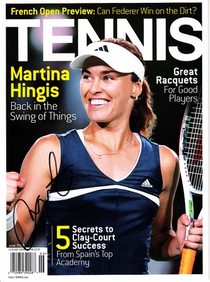 Martina Hingis autographed June 2006 Tennis magazine