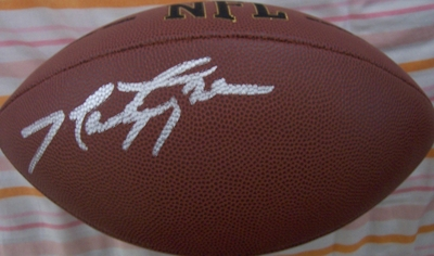 Marty Lyons autographed NFL replica football