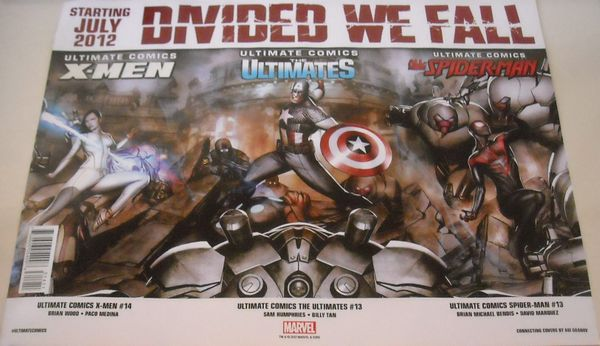 Marvel Divided We Fall 2012 Comic-Con promo poster (Spider-Man X-Men)