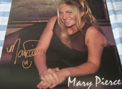 Mary Pierce autographed 1998 WTA Tour calendar page