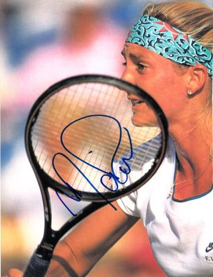 Mary Pierce autographed tennis magazine full page photo