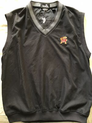 Maryland Terrapins black Ashworth pullover golf vest LIKE NEW