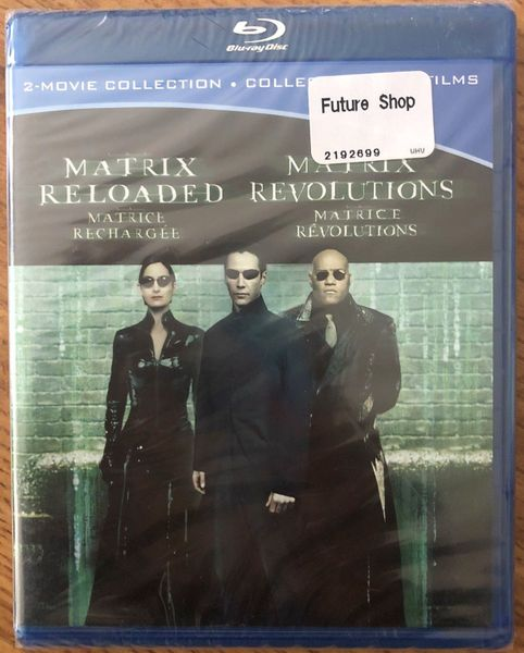 Matrix Reloaded and Matrix Revolutions movies on Blu-ray DVD NEW SEALED (English and French)