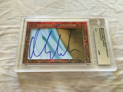 Matt Damon and Mark Wahlberg 2018 Leaf Masterpiece Cut Signature certified autograph card 1/1 JSA Departed