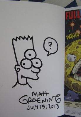 Matt Groening autographed and doodled Futurama To Infinity! 2013 Comic-Con exclusive comic book (graphic novel or trade paperback)