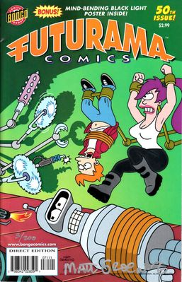 Matt Groening autographed Futurama comic book issue #50 (San Diego Comic-Con limited edition #3/200)