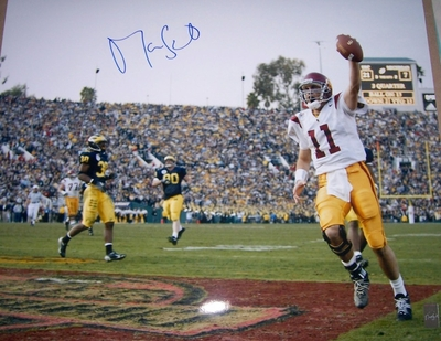Matt Leinart autographed USC Trojans 2003 National Championship 16x20 Rose Bowl poster size photo (Athlon)