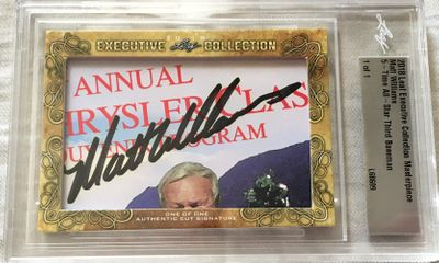 Matt Williams 2018 Leaf Masterpiece Cut Signature certified autograph card 1/1 JSA