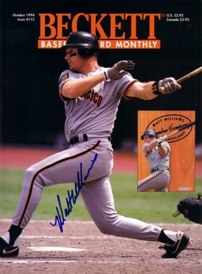 Matt Williams autographed San Francisco Giants 1994 Beckett Baseball magazine cover