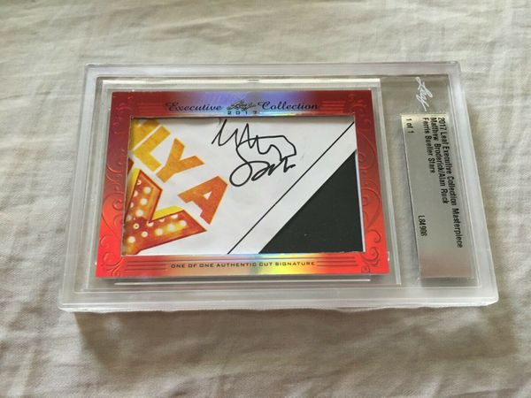 Matthew Broderick and Alan Ruck 2017 Leaf Masterpiece Cut Signature certified autograph card 1/1 JSA Ferris Bueller