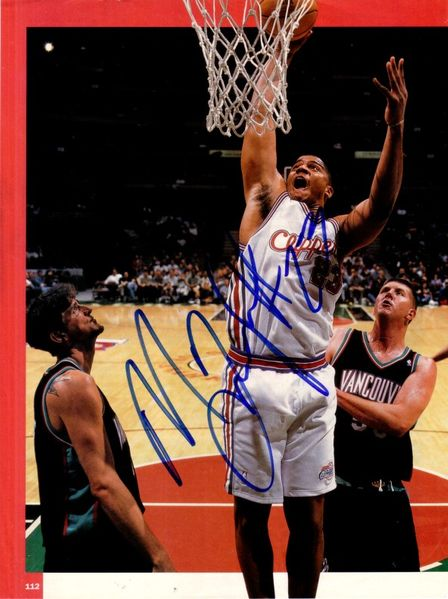 Maurice Taylor autographed Los Angeles Clippers magazine photo