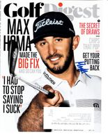 Max Homa autographed 2019 Golf Digest magazine cover