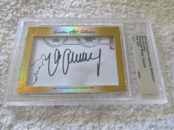 Max Schmeling 2016 Leaf Masterpiece Cut Signature certified autograph card boxing 1/1 JSA