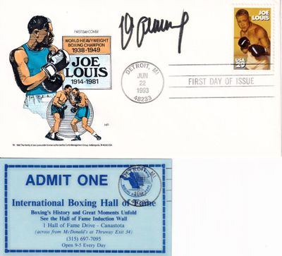 Max Schmeling autographed Boxing Greats cachet 1993 Joe Louis First Day Cover