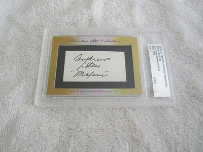 Maxene Andrews 2017 Leaf Masterpiece Cut Signature certified autograph card 1/1 JSA