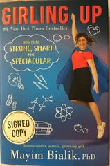 Mayim Bialik autographed Girling Up hardcover first edition book