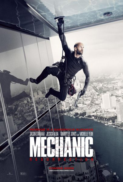 Mechanic Resurrection 2016 mini 13x20 movie poster (Jason Statham)