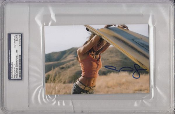 Megan Fox autographed Transformers 4x6 inch sexy movie photo (PSA/DNA slabbed)