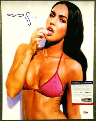 Megan Fox autographed 11x14 sexy bikini photo (PSA/DNA)