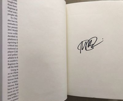 Megan Rapinoe autographed One Life hardcover book