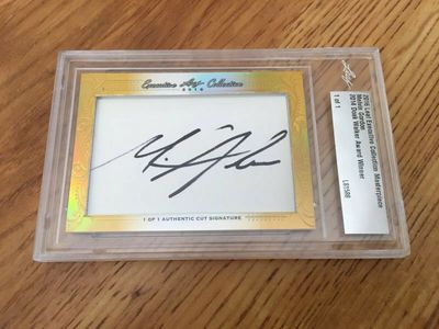 Melvin Gordon 2016 Leaf Masterpiece Cut Signature certified autograph card 1/1 JSA