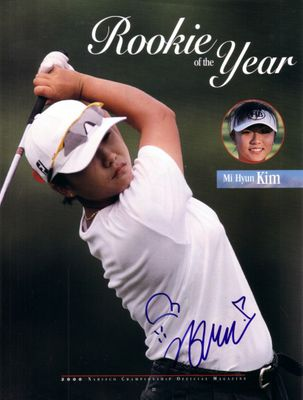 Mi Hyun Kim autographed full page LPGA golf magazine photo