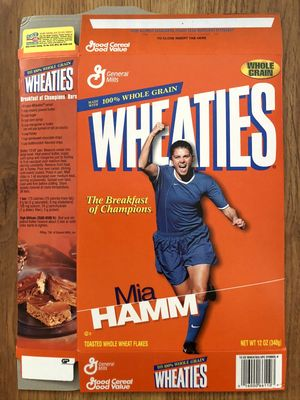 Mia Hamm 1999 U.S. Women's World Cup Champions Team Wheaties box