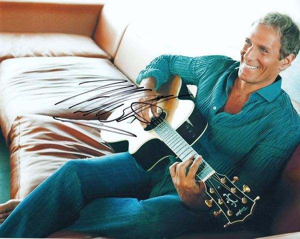 Michael Bolton autographed 8x10 photo