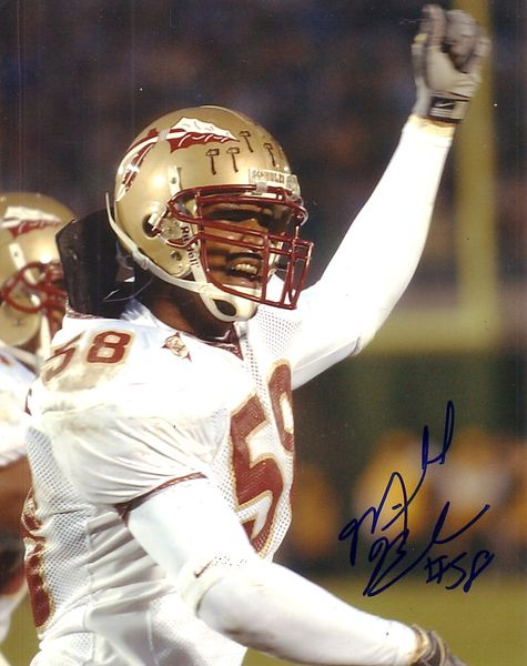 Michael Boulware autographed 8x10 Florida State photo