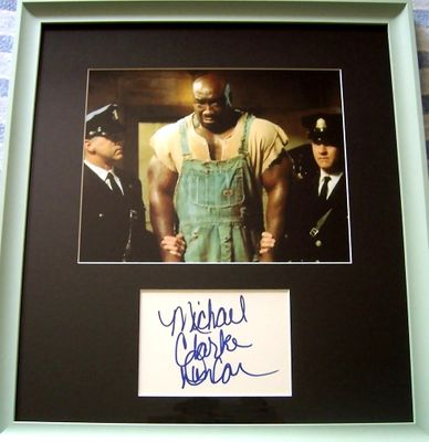 Michael Clarke Duncan autograph framed with Green Mile 8x10 movie photo