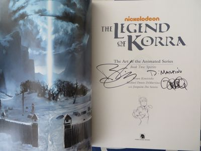 Michael DiMartino and Bryan Konietzko autographed Legend of Korra Art of the Animated Series Book 2