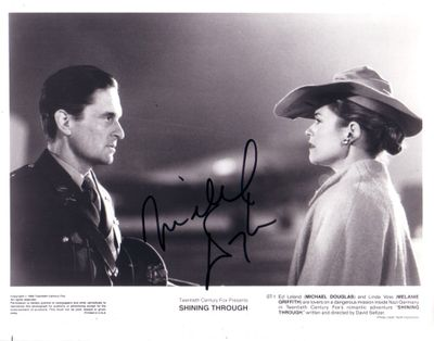Michael Douglas autographed Shining Through 8x10 photo