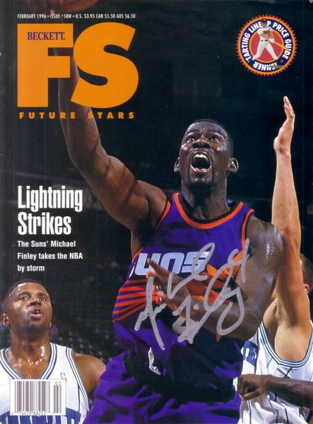 Michael Finley autographed Phoenix Suns Beckett Future Stars cover