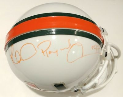Michael Irvin autographed Miami Hurricanes authentic mini helmet inscribed Playmaker