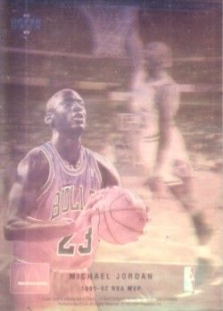 Michael Jordan 1992-93 Upper Deck McDonald's hologram card