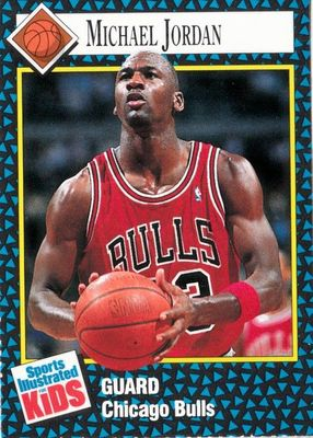 Michael Jordan Chicago Bulls 1992 Sports Illustrated for Kids card