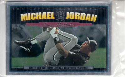 Michael Jordan 1994 Upper Deck Minors Season Highlights 3 1/2 by 5 jumbo 5 card set