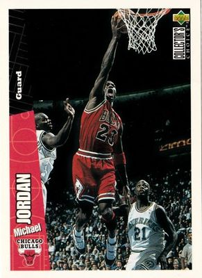 Michael Jordan Chicago Bulls 1996-97 Collector's Choice card CH3