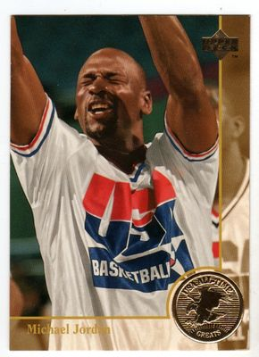 Michael Jordan 1994 Upper Deck USA Basketball All-Time Greats card