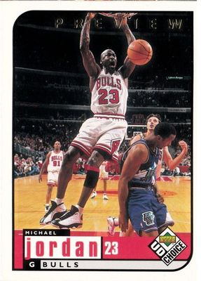 Michael Jordan Chicago Bulls 1998-99 Upper Deck Choice Preview card #23