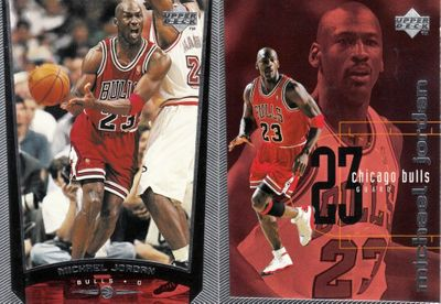 Michael Jordan Chicago Bulls 1998-99 Upper Deck card 230r and checklist card 311