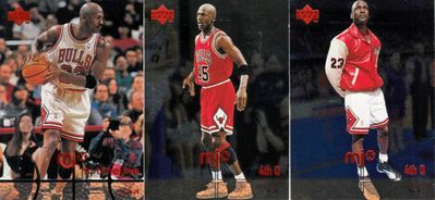 Michael Jordan Chicago Bulls lot of 3 1998 Upper Deck MJx cards